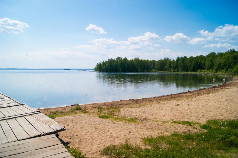 Пляж на базе отдыха Чайка оз. Увильды