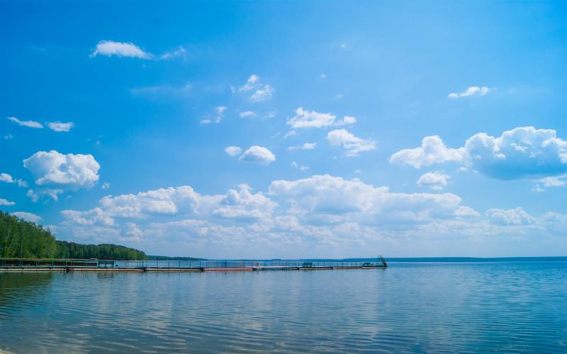 Небо Лето Увильды база отдыха Чайка