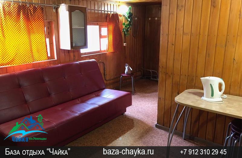 База Чайка озеро Увильды Челябинская область - Екатеринбург. Баня, комната отдыха