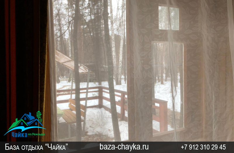 База Чайка озеро Увильды Челябинская область. Семейный двухкомнатный домик